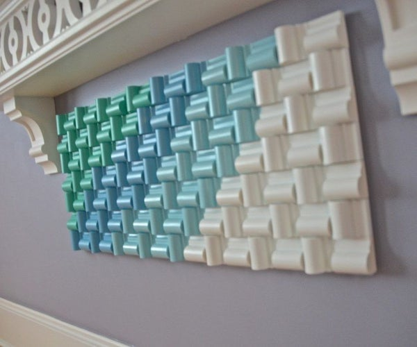 Holiday Wall Art Made From Chair Rail