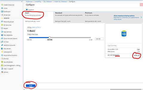 Software - Deploy the SQL Database