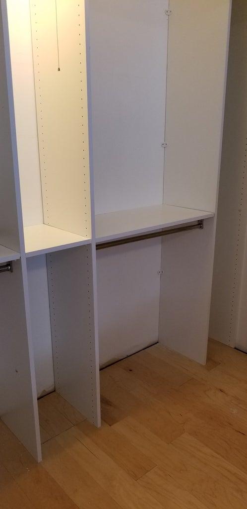 Center Shelf and Lower Rods