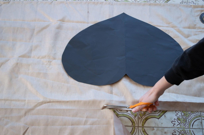 Cut Heart in Fabric