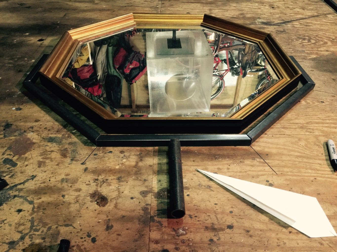 Get Your Mirror on the Floor \--/Cut Metal Pieces to Fit