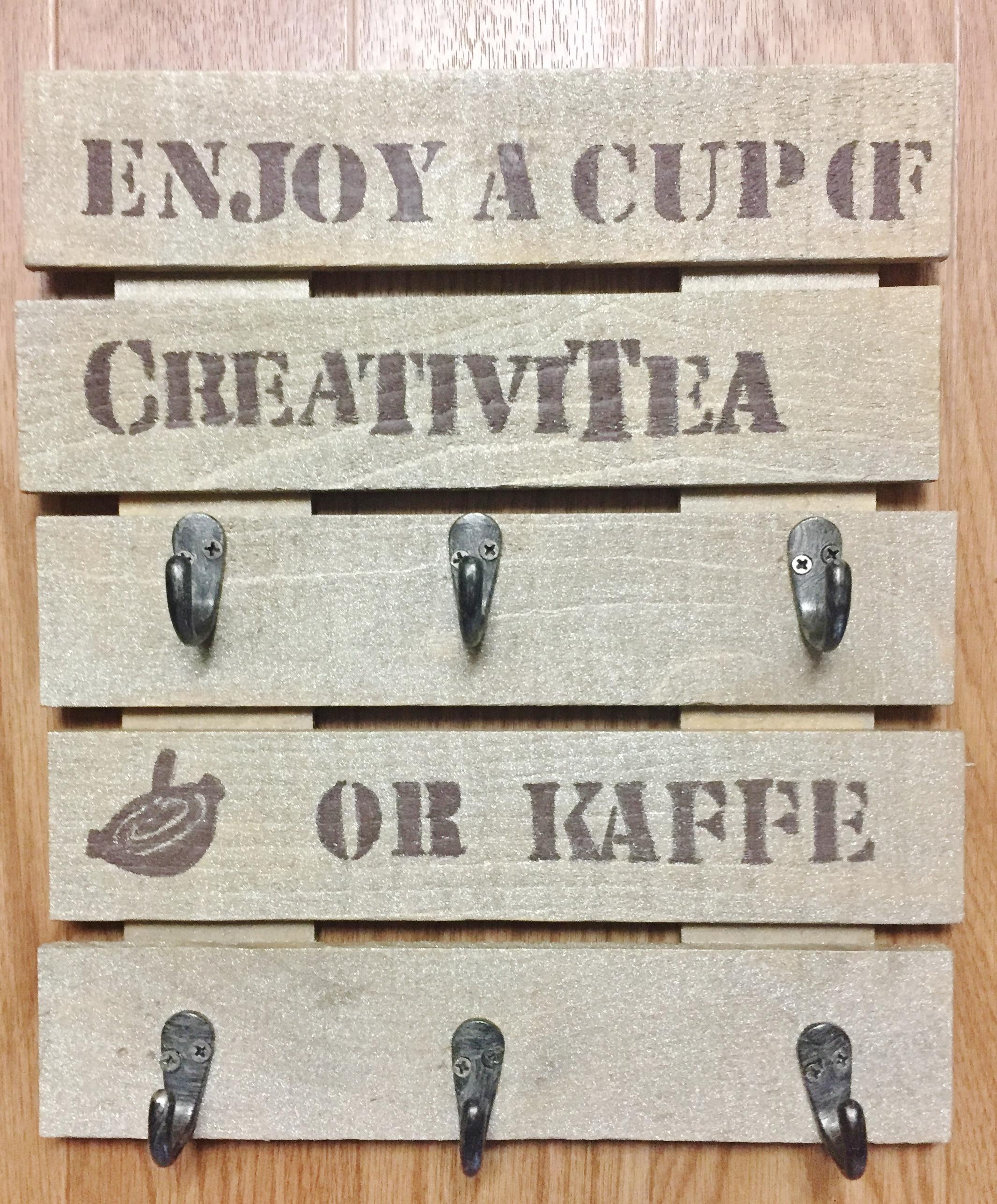Wood Pallet Mug Holder 7 Steps With Pictures Instructables