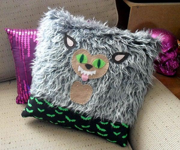 Werewolf DIY Throw Pillow