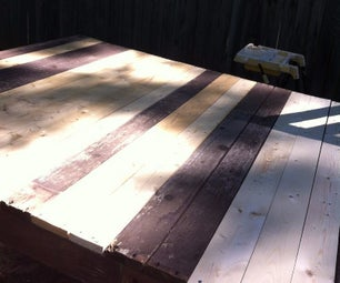 Re-furbish the Deck of an Old Swing Set