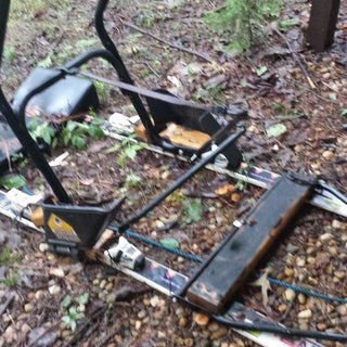 DIY - Homemade Dog Sled / Kick Sled / Snowmobile Sled