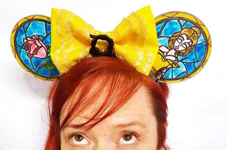 Faux Stained Glass Mickey Ears