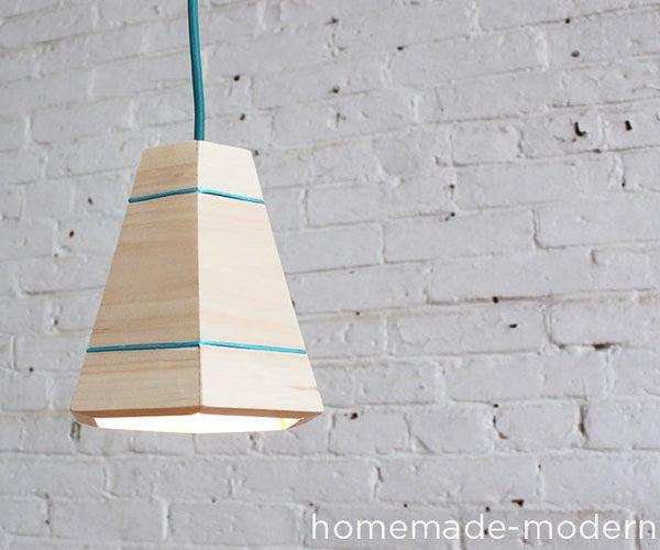HomeMade Modern DIY Wood Pendant Lamp