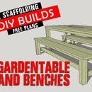 Scaffolding Gardenset Table and Benches