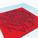 3D Geometric Art Impression Tile (Tinkercad & Scratch)