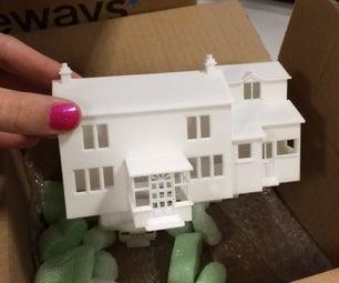 3D Printed House Mood-light