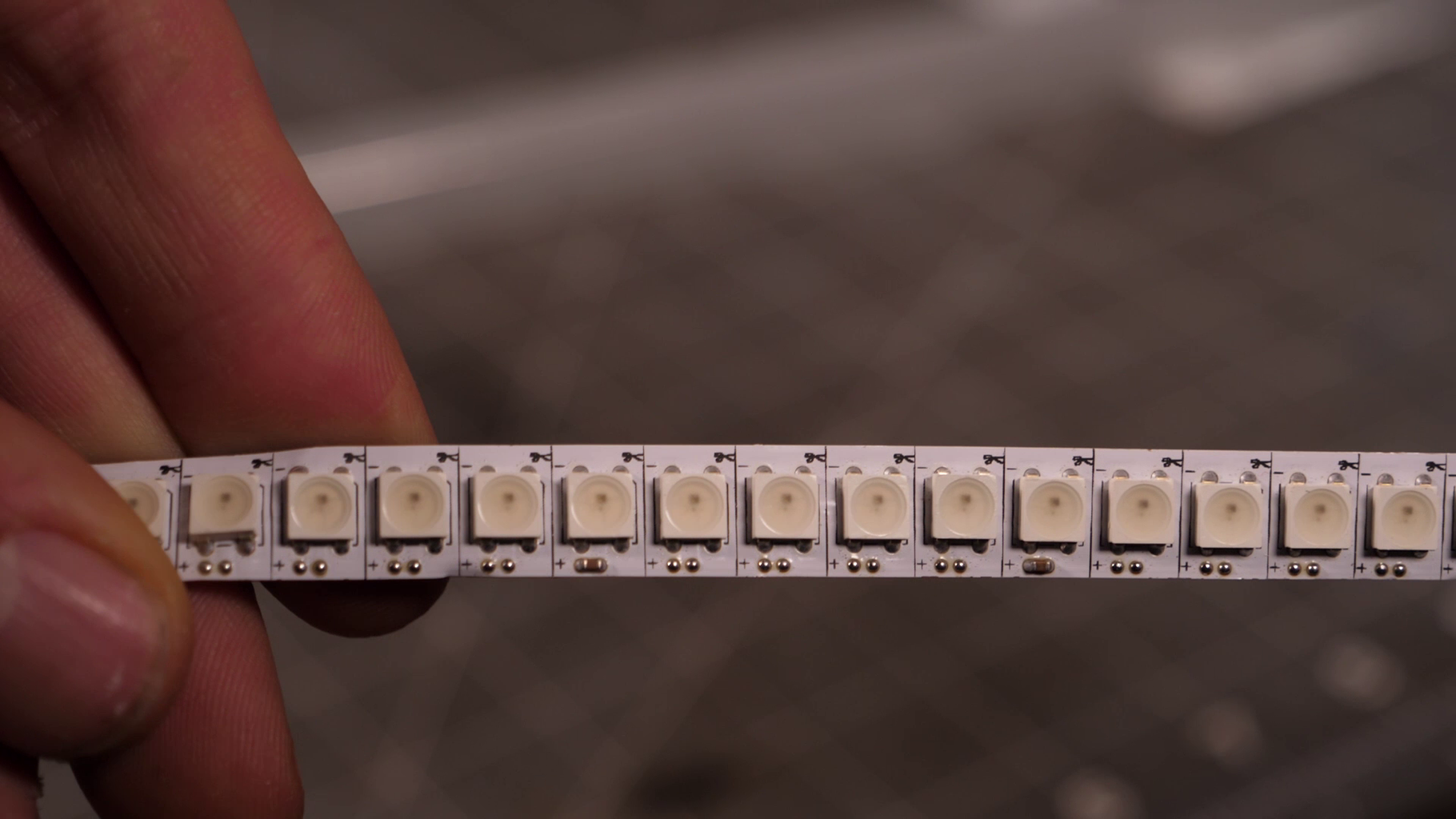 Adding the LED-strips