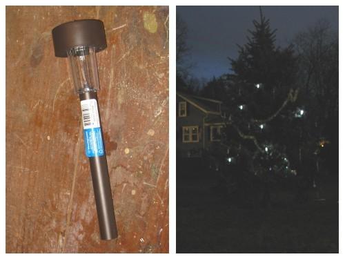 Solar powered Christmas ornaments