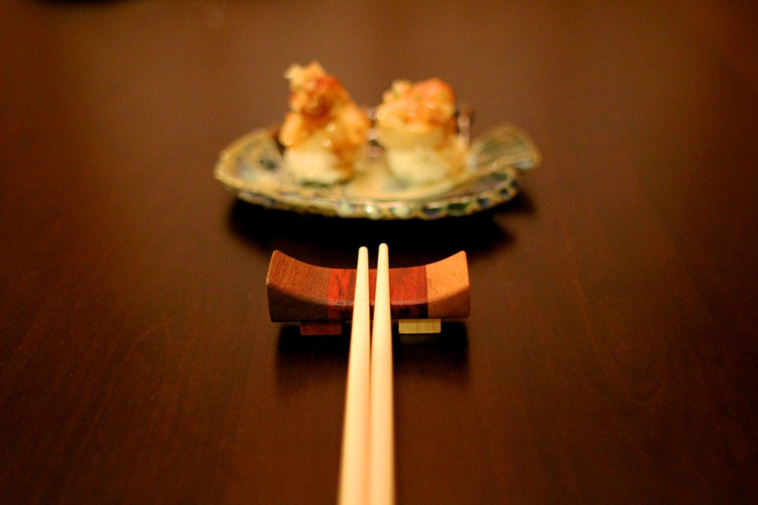 Hardwood Chopstick Rest