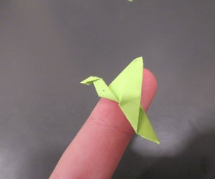Tiny Flapping Origami Swan