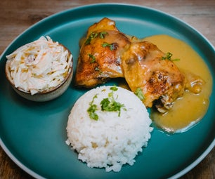 Oven Baked Chicken Thighs With Onion Gravy