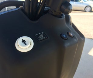 Make a Scooter or Motorcycle Garage Door Opener Out of an Arcade Game Button; Honda Ruckus