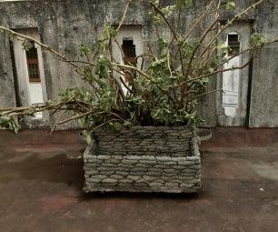 Make Giant Pots(Styrofoam, Gravel) for Bigger Plants, With Cement!
