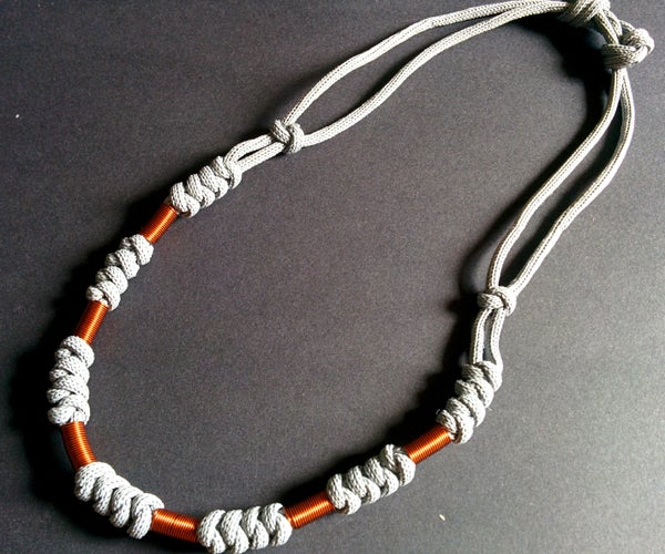 Making Paracord and Wire Necklace