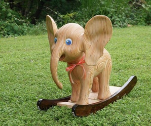 雕刻胶合板摇头大象