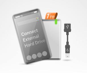 将外部硬盘连接到Android智能手机