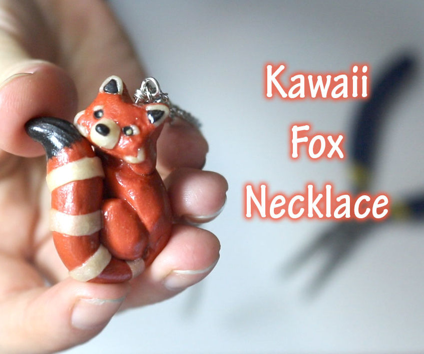 Tutorial: Fire Fox Necklace - Polymer Clay