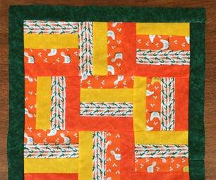 Cheery Mini Orange Strip Quilt