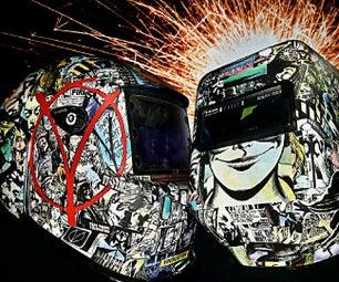 Custom Comic Theme Welding Helmet