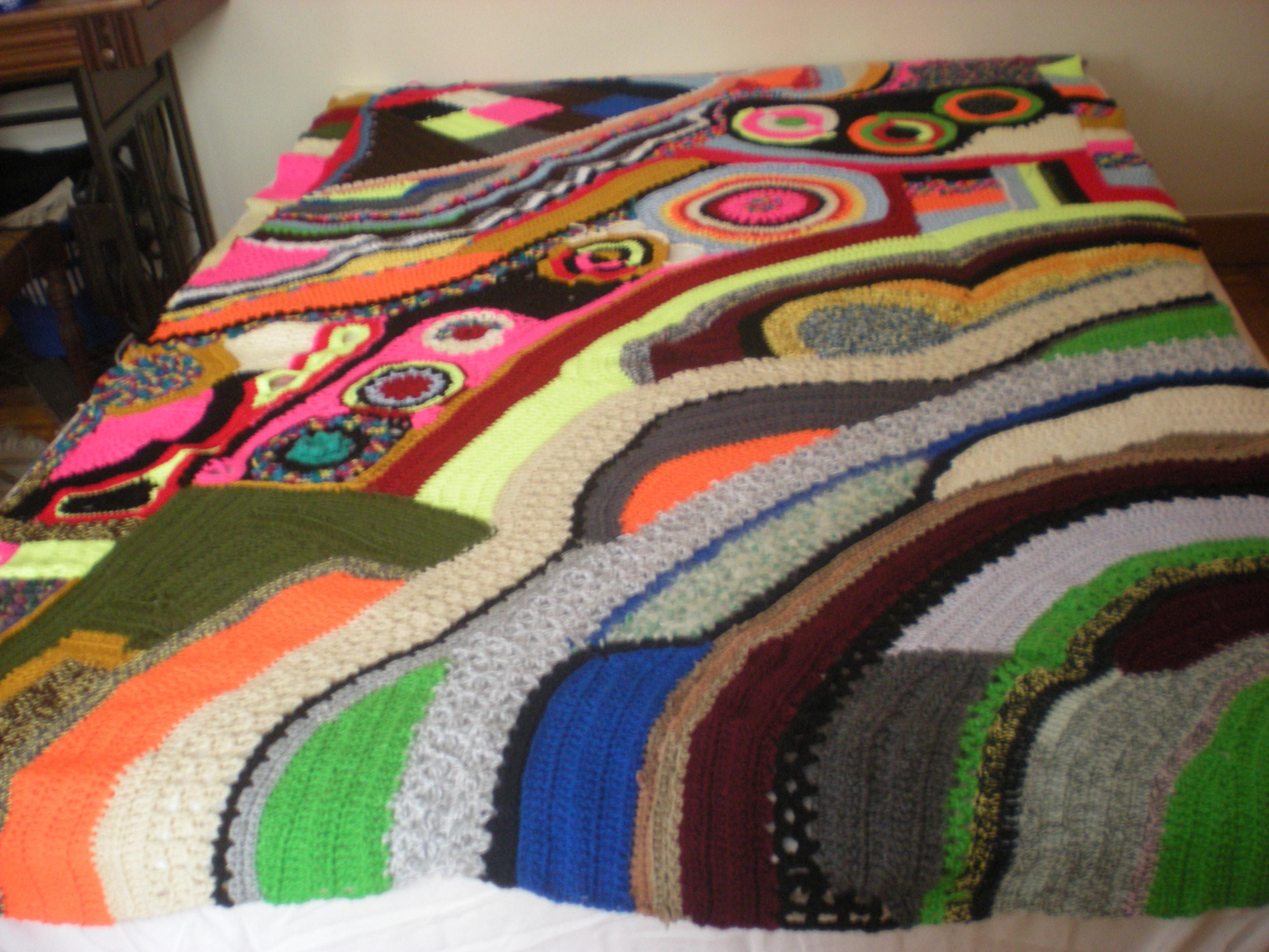 Caotic  crochet blanket
