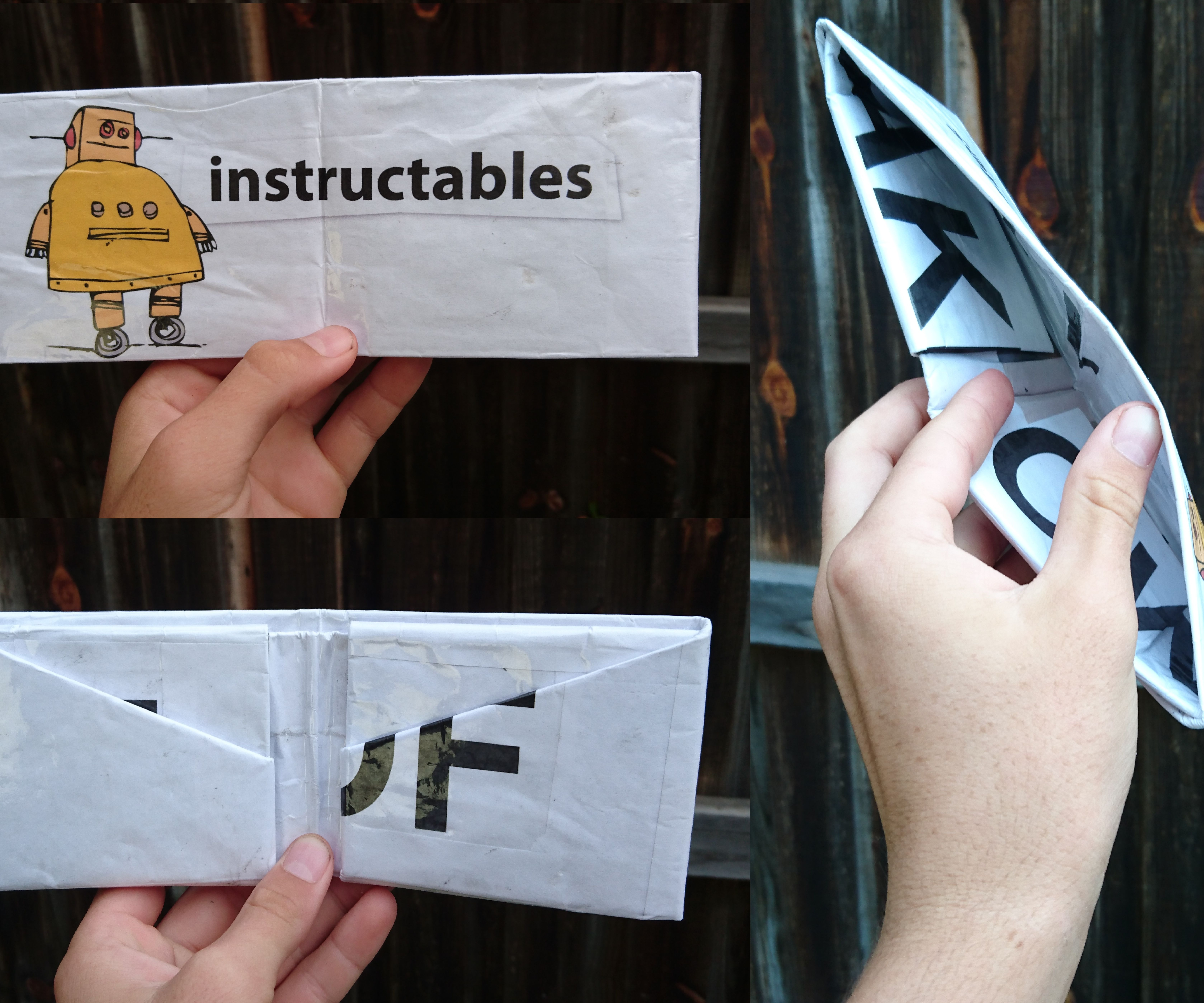 HOW TO MAKE A WALLET FROM 1 PIECE OF NEWSPAPER