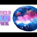 DIY easy galaxy watercolor painting