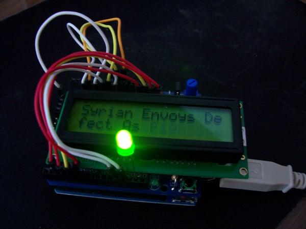 An Arduino RSS Feed Display