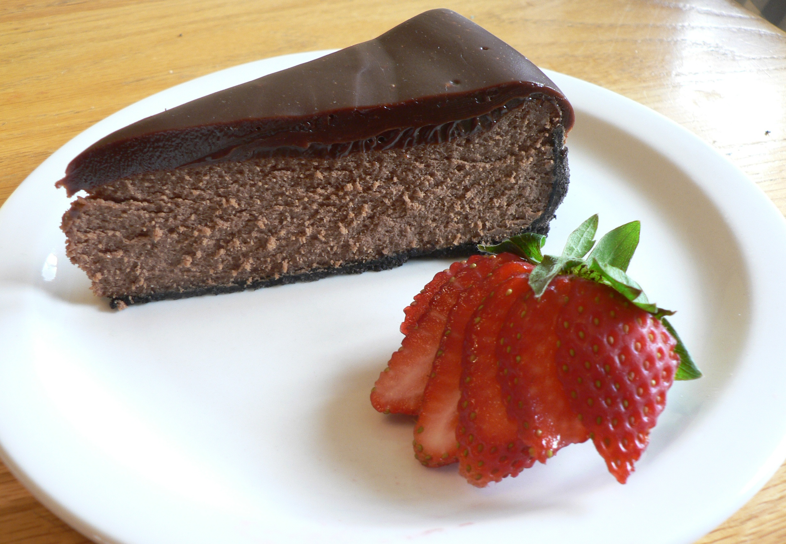 Double Chocolate Cheesecake with Chocolate Ganache