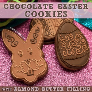Chocolate Easter Cookies With Almond Butter Filling