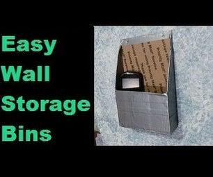 Easy Wall Storage Bins