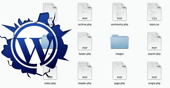 Break Index.html According to WordPress Theme File Structure