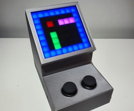 Complete Arduino-based 3D-printed Battery-powered Mini Retro Arcade Machine