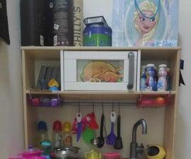 宜家儿童厨房微波升级