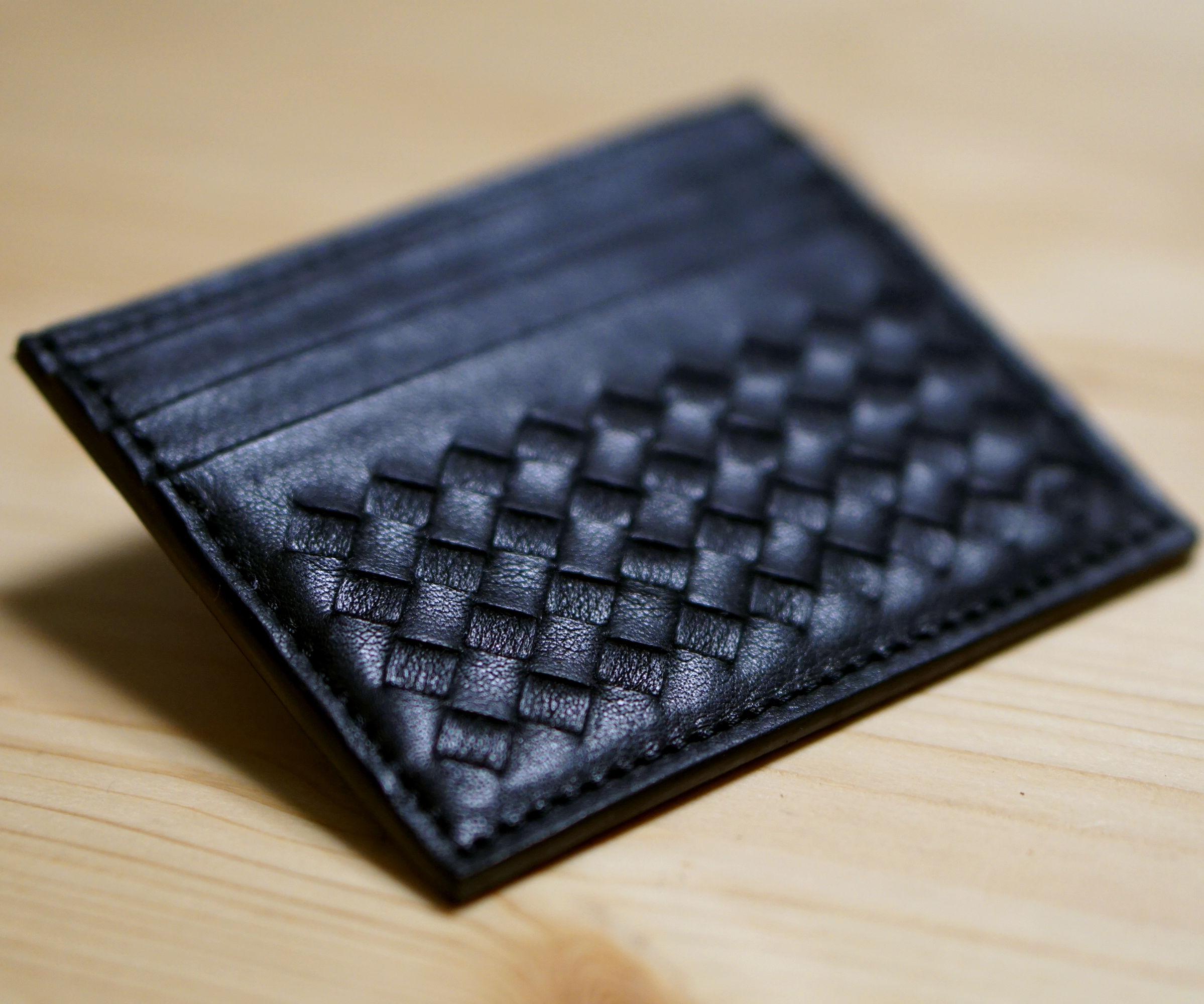 Intrecciato Woven Cardcase