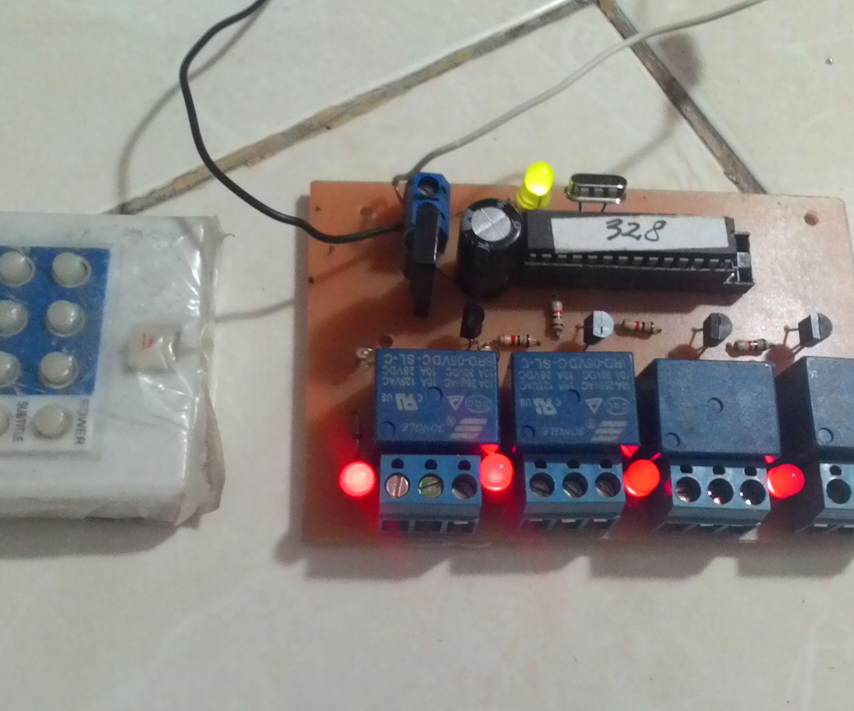 DIY 4 channel IR remote controller