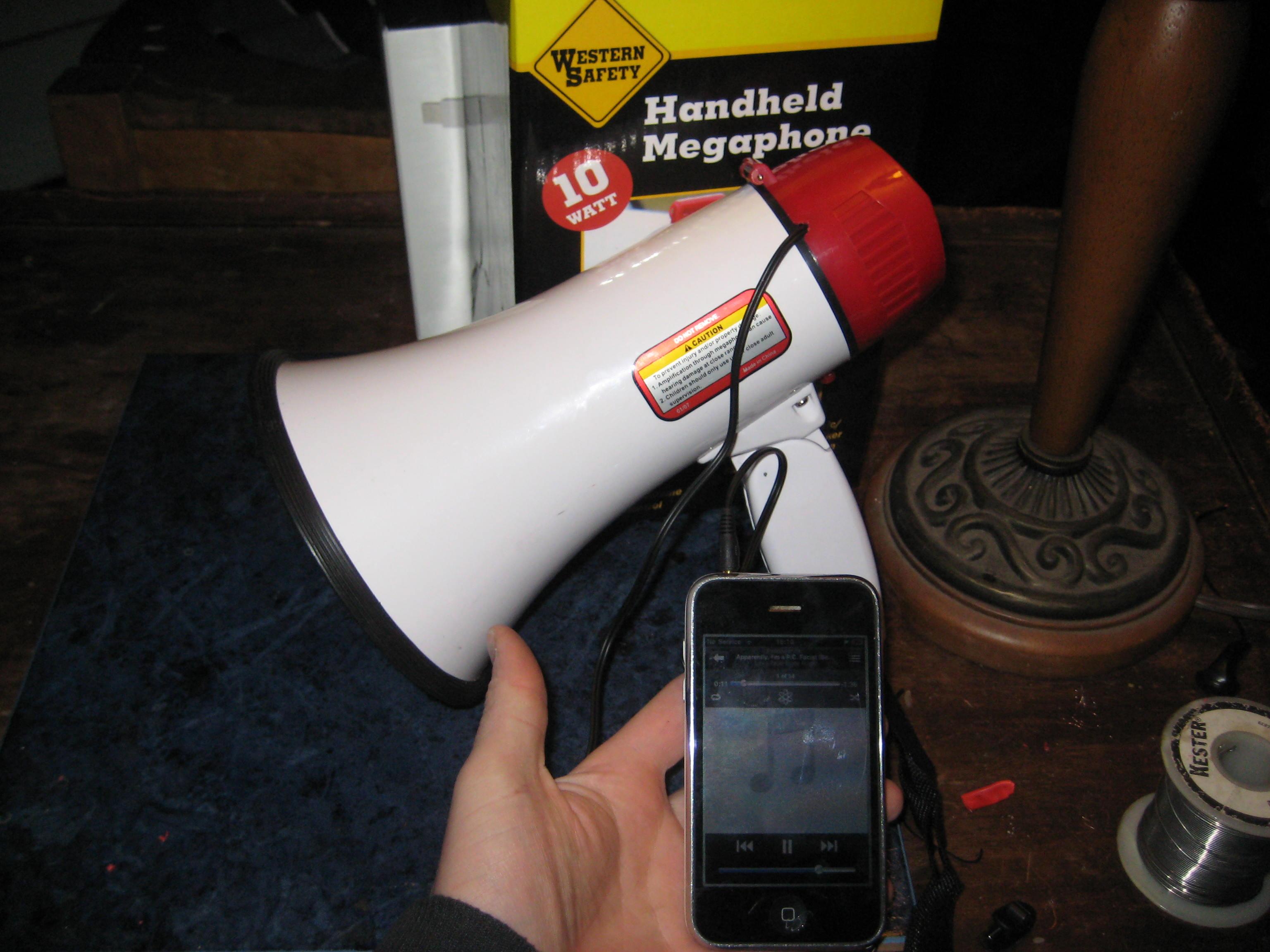 Add an audio input to a megaphone