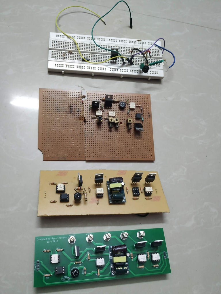 Testing PCB by Home Made PCBs
