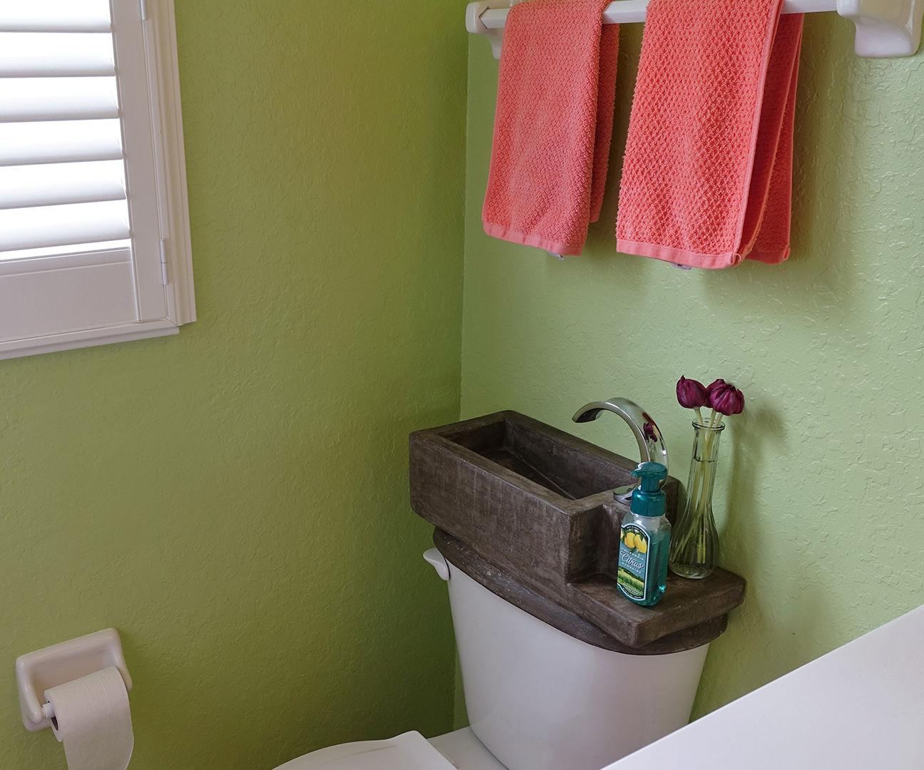 I Made a Toilet Tank Sink!