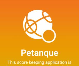 Petanque / Jeu-de-Boules Score Keeping Application
