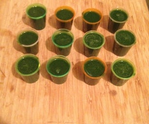 Popeye Shots (Spinach and Mussel Soup)