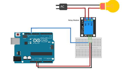 Control Your Relay Switch to Lit a Bulb