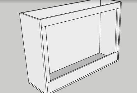 Attach the Face Frame to the Cabinet Body