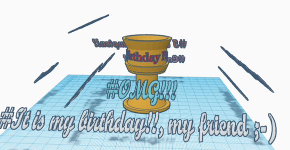 How to Make a Birthday Gift for Your Father on Tinkercad.