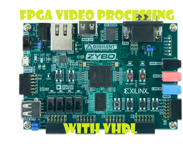 Video Processing Using VHDL and a Zybo