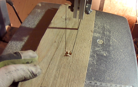Cutting Out the Wedge and Notch for the Workbench