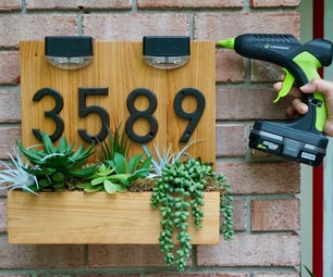 DIY House Address Sign Using Hot Glue